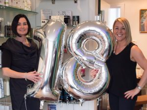 laurie and pauline at partners hair & beauty salon in dundee
