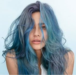 blue hair, Wella hair colours, Broughty Ferry hair salon