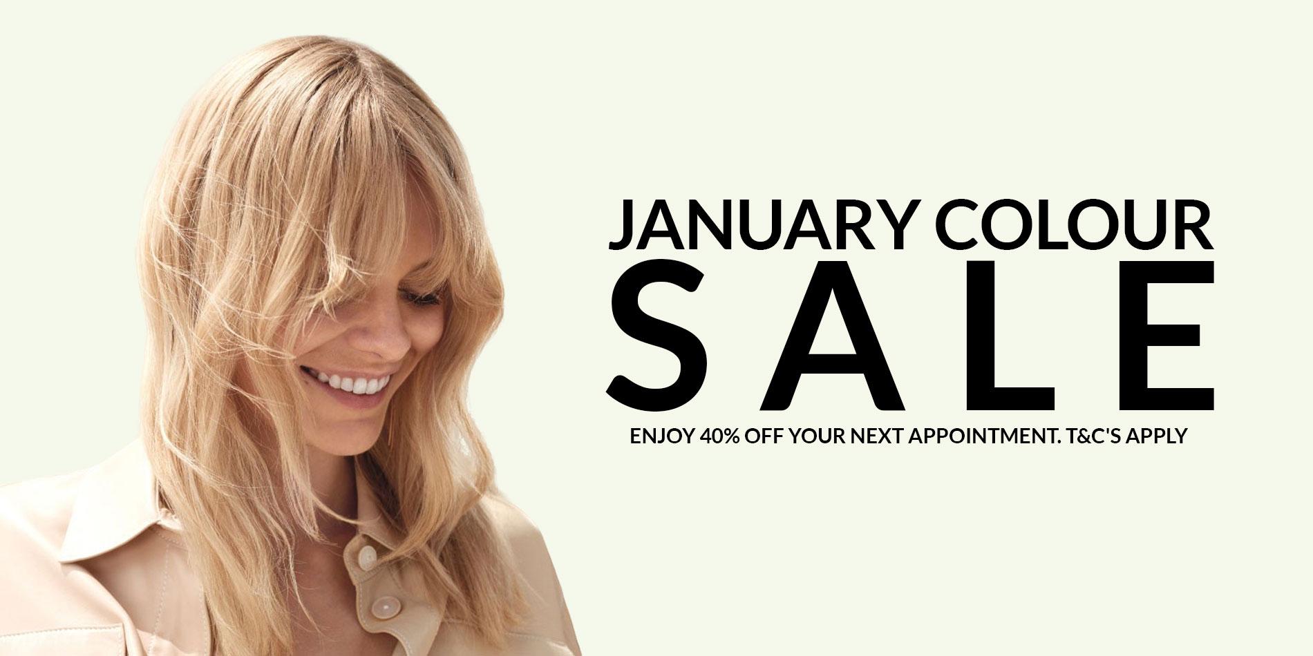 January hair colour offer, top dundee salon